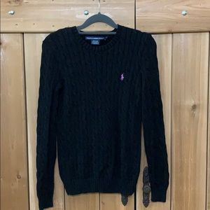 Ralph Lauren Sport Cable Black Sweater M